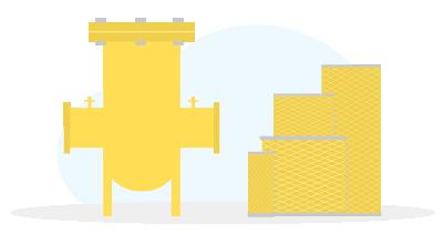 Газовый фильтр типа ФГ (  ФГ-50 (алюминиевый), ФГ-50/50С, ФГ-80/80С, ФГ-100/100С, ФГ-150/150С, ФГ-200/200С, ФГ-250/250С, ФГ-300/300С, ФГ-400/400С)